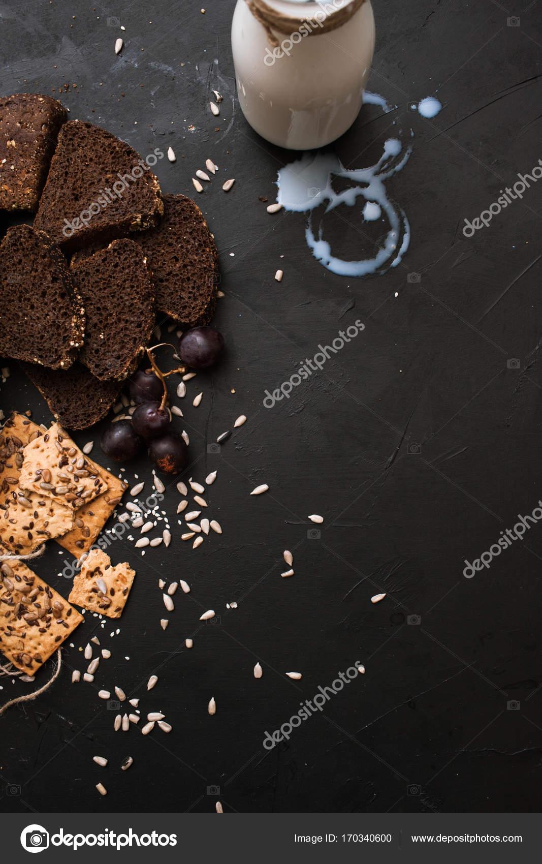 Zusammensetzung von Lebensmitteln von Backwaren — Stockfoto ...