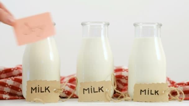 různé mléčné typy sójové kráva Zdravá Veganská strava