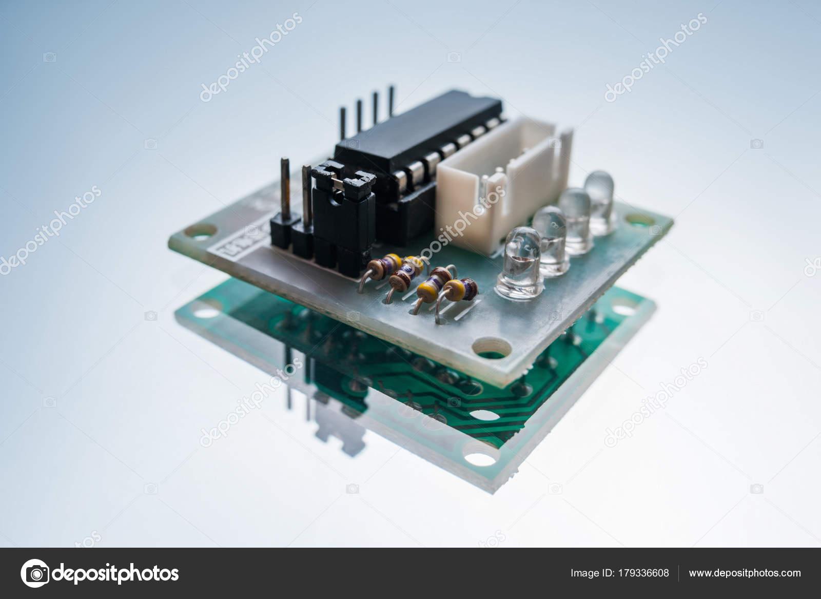 Electronic Micro Detail Robotics Engineering Stock Photo