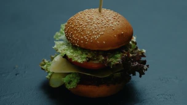 Rychlé občerstvení hamburger nezdravé výživy americká