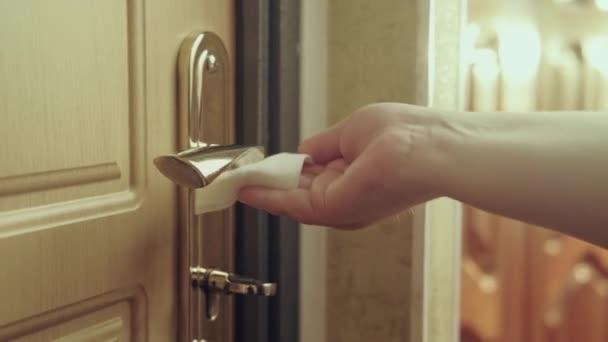 Oberflächensanierung Coronavirus Vorsichtsmaßnahme Hand