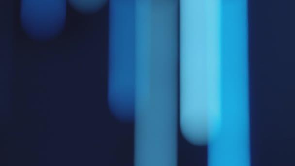rozostřená záře noc město světla modré pozadí