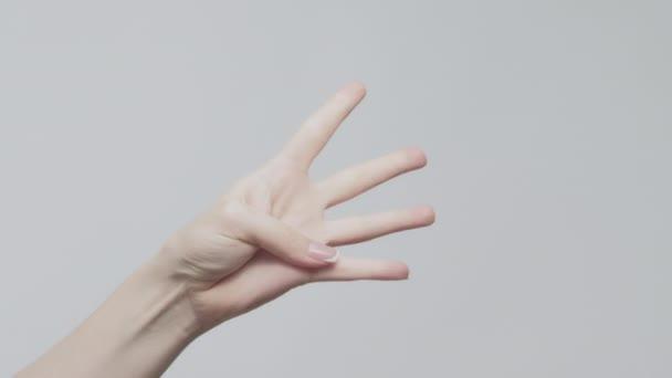 odpočítávací gesto ruční počítání 5 1 ukazující