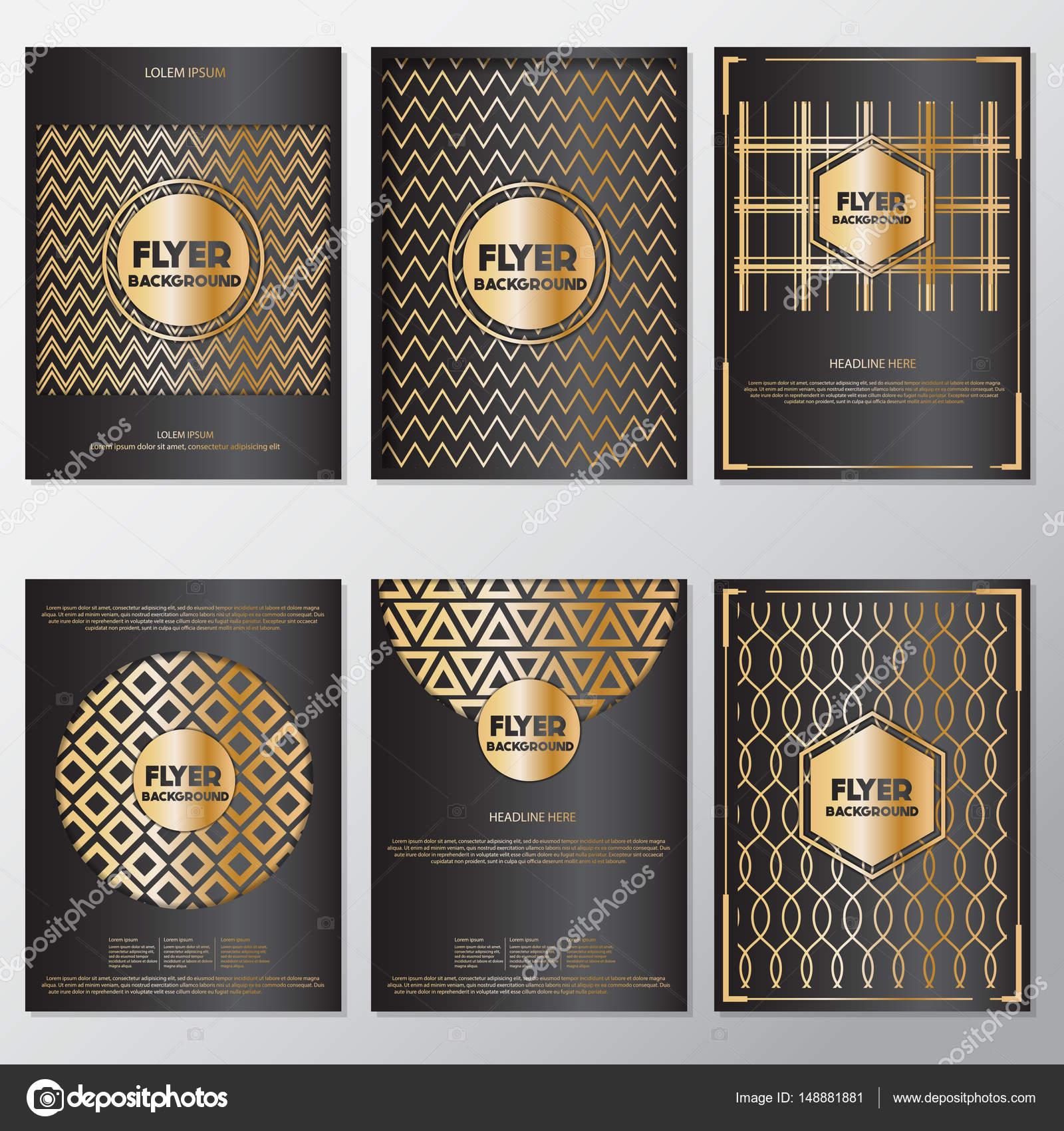 Estilo de banner oro fondo flyer plantilla de diseño — Archivo ...