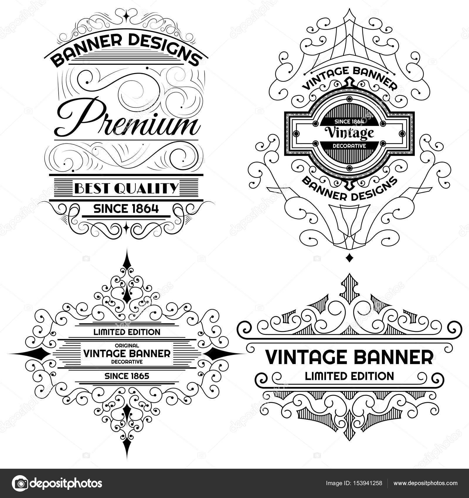 Vintage-Hintergrund Label Design-Vorlage — Stockvektor © toonsteb ...