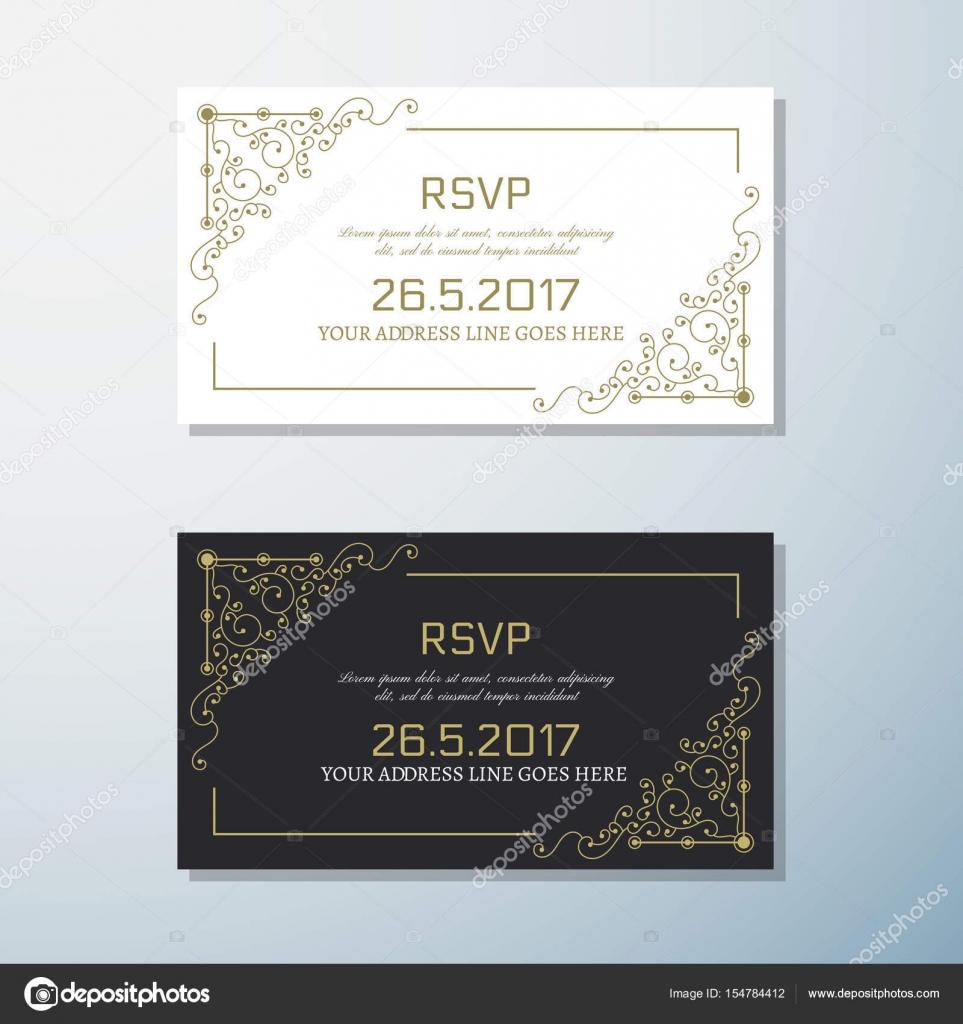 Hochzeit Einladung Vintage Flyer Hintergrund Design Templat U2014 Stockvektor