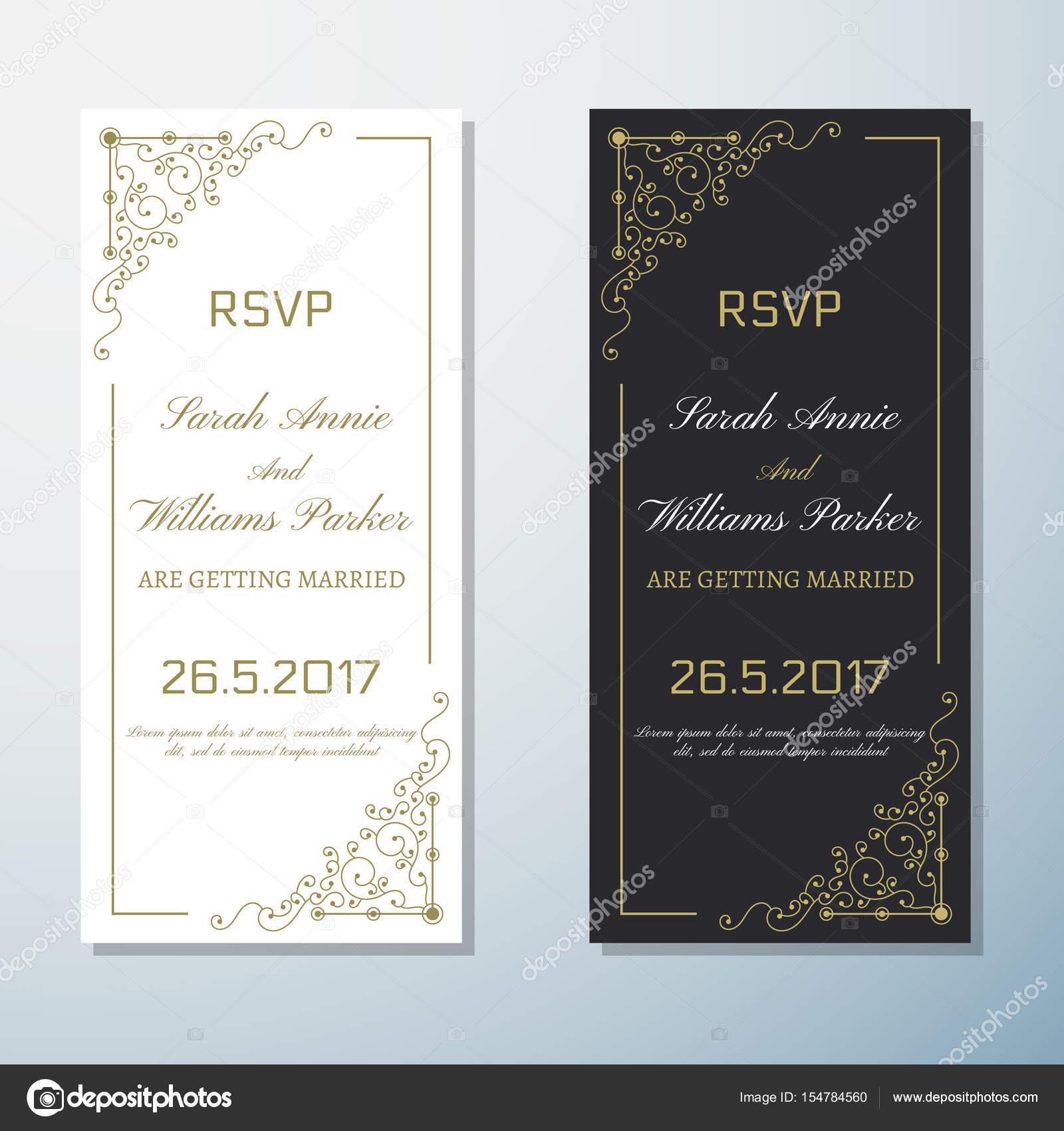 0222a58534 Esküvői meghívó Vintage szórólap háttér Design sablon vektoros illusztráció  — Vektorok toonsteb ...