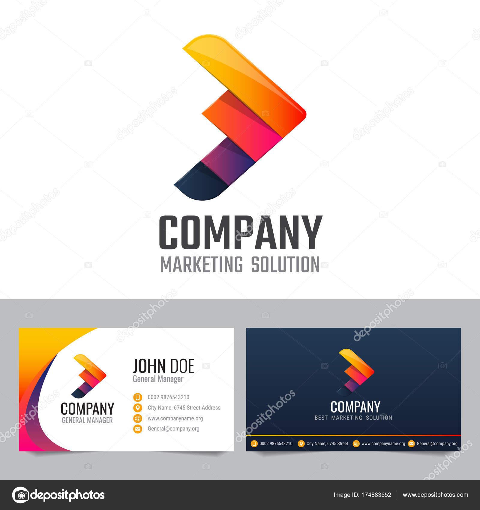 Moderne Visitenkarte Vektor Template Design Für Unternehmen