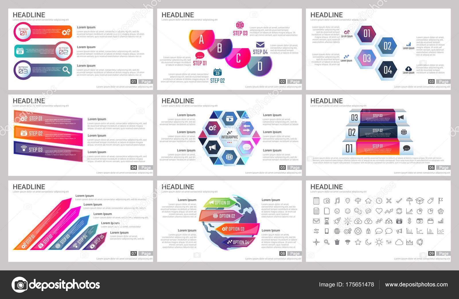 Moderne Elemente Der Infografiken Für Präsentationen Vorlagen Für ...