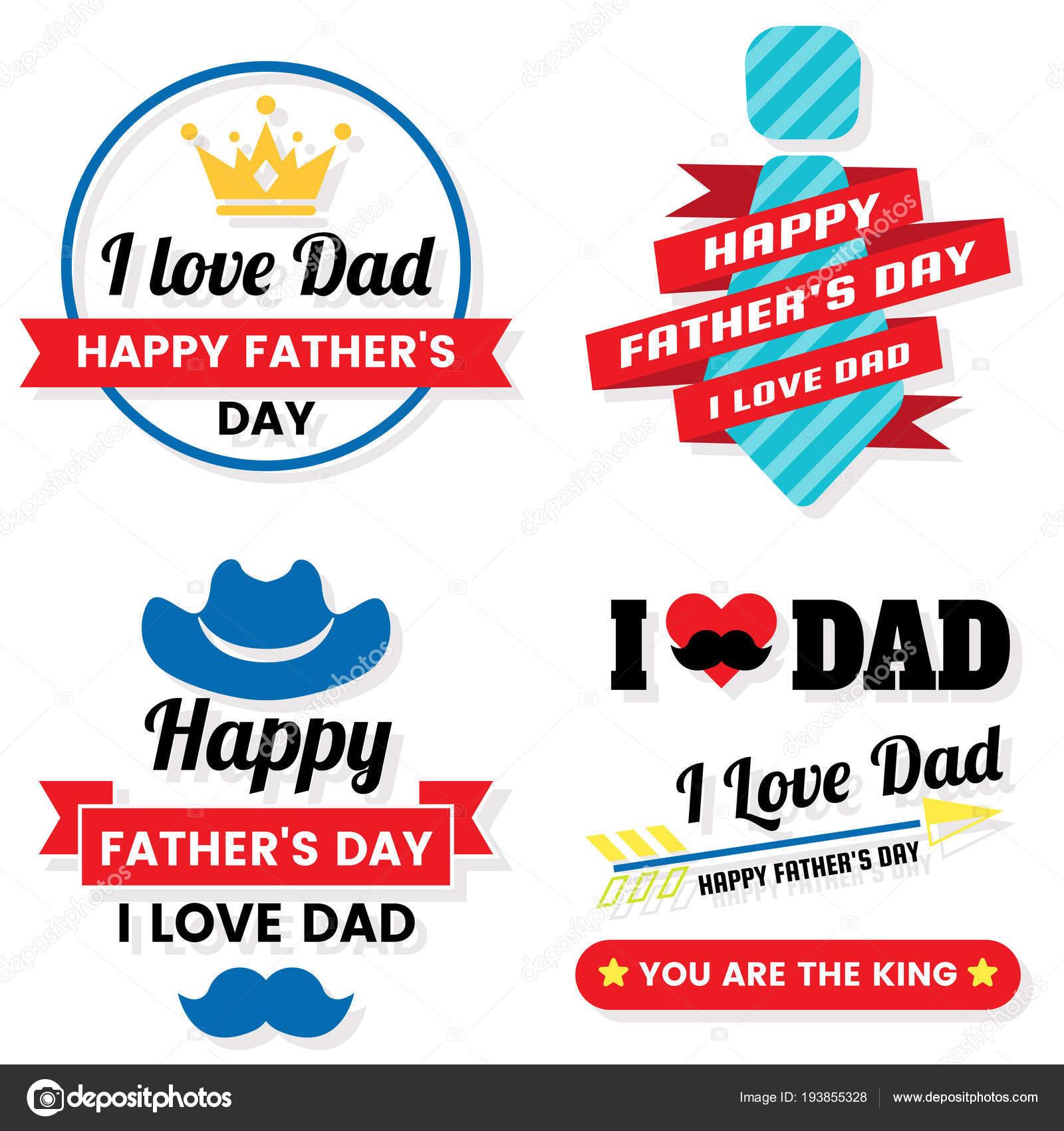 Dag Van Vader Verjaardag Vector Logo Voor Spandoek Poster Flyer