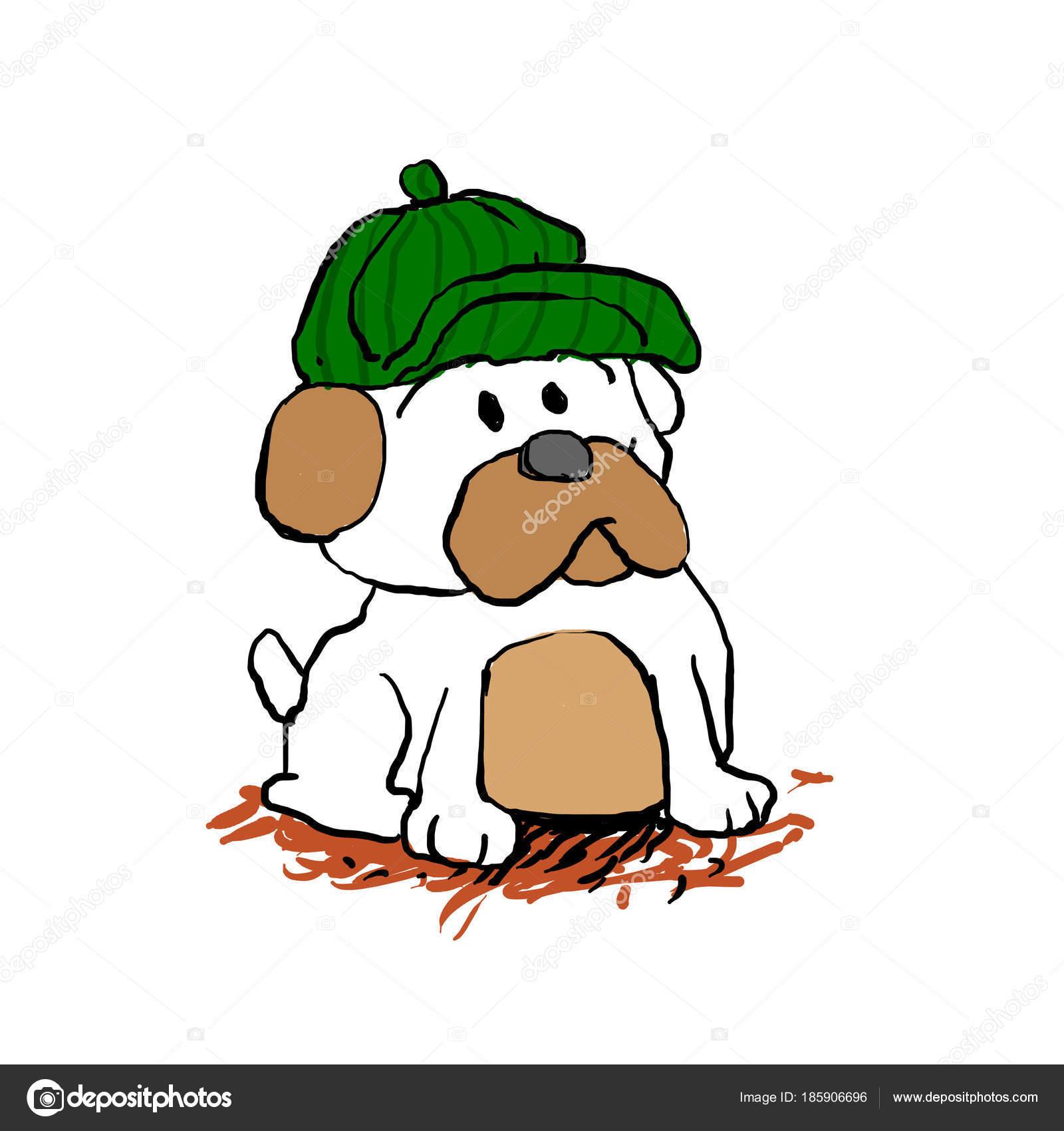 Детектив Мопс Мультяшная Собака — Стоковое фото ...