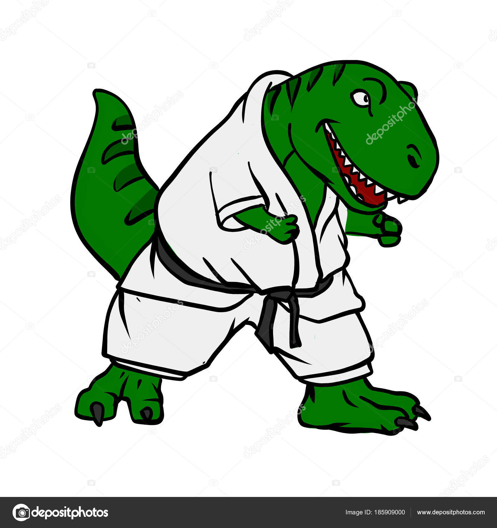 desenhos animados karateca rex fotografias de stock milesthone