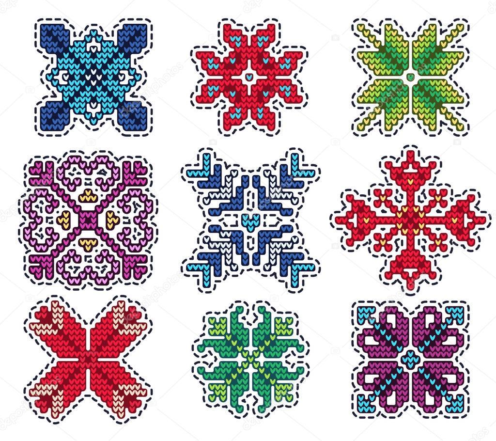 Parche de Navidad tejidos — Archivo Imágenes Vectoriales © Katyr ...
