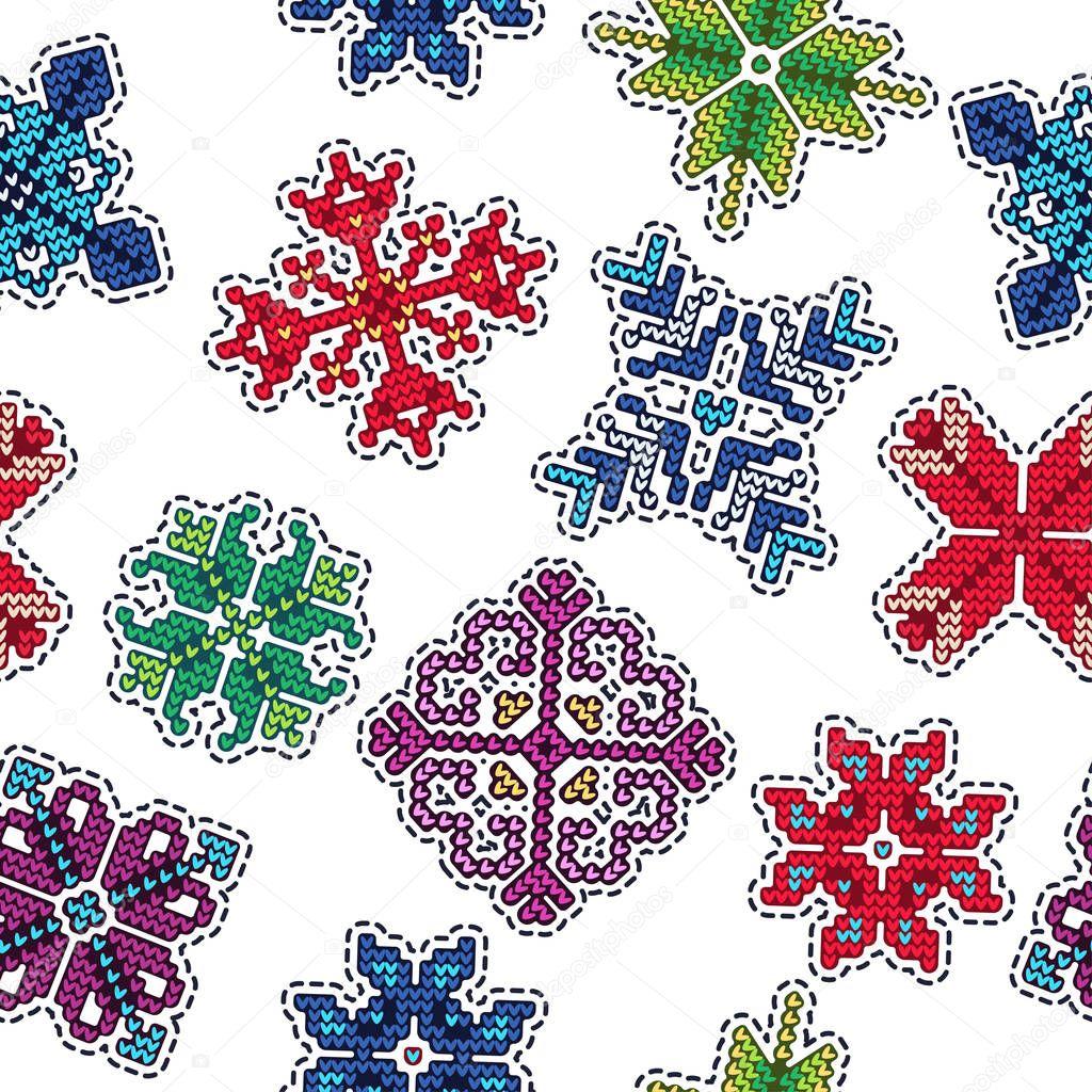 Navidad punto parche patrón — Vector de stock © Katyr #129239914