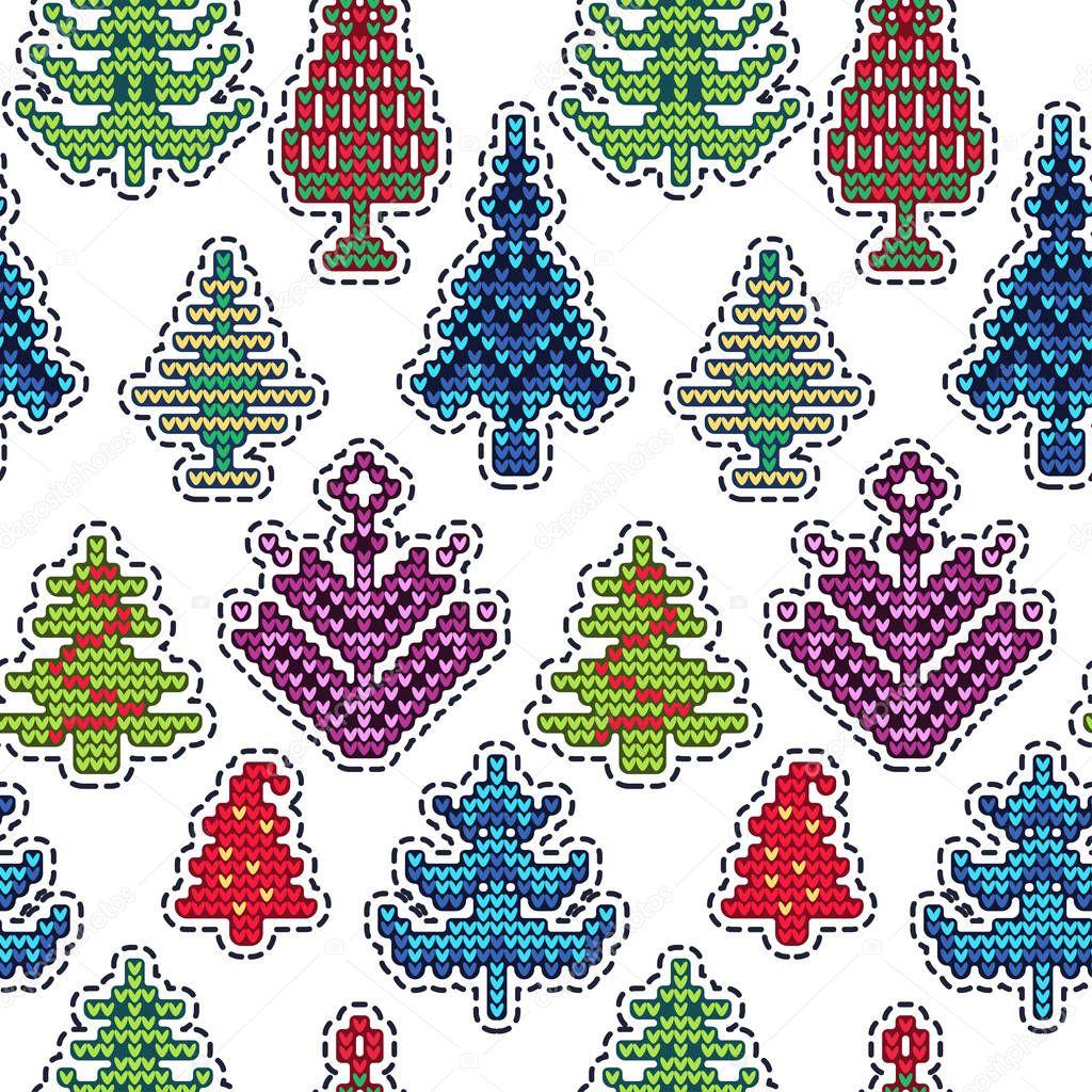 Navidad punto parche patrón — Vector de stock © Katyr #129239964