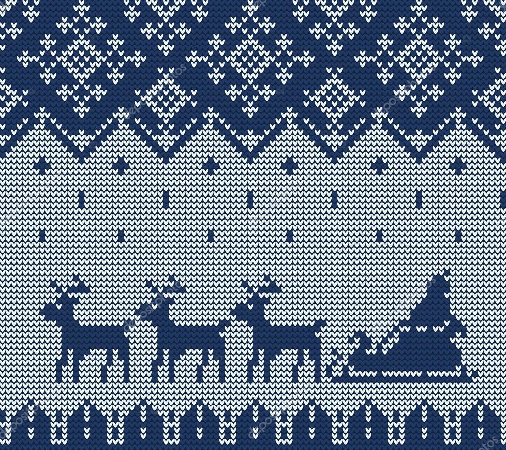 patrón de suéter de punto — Archivo Imágenes Vectoriales © Katyr ...