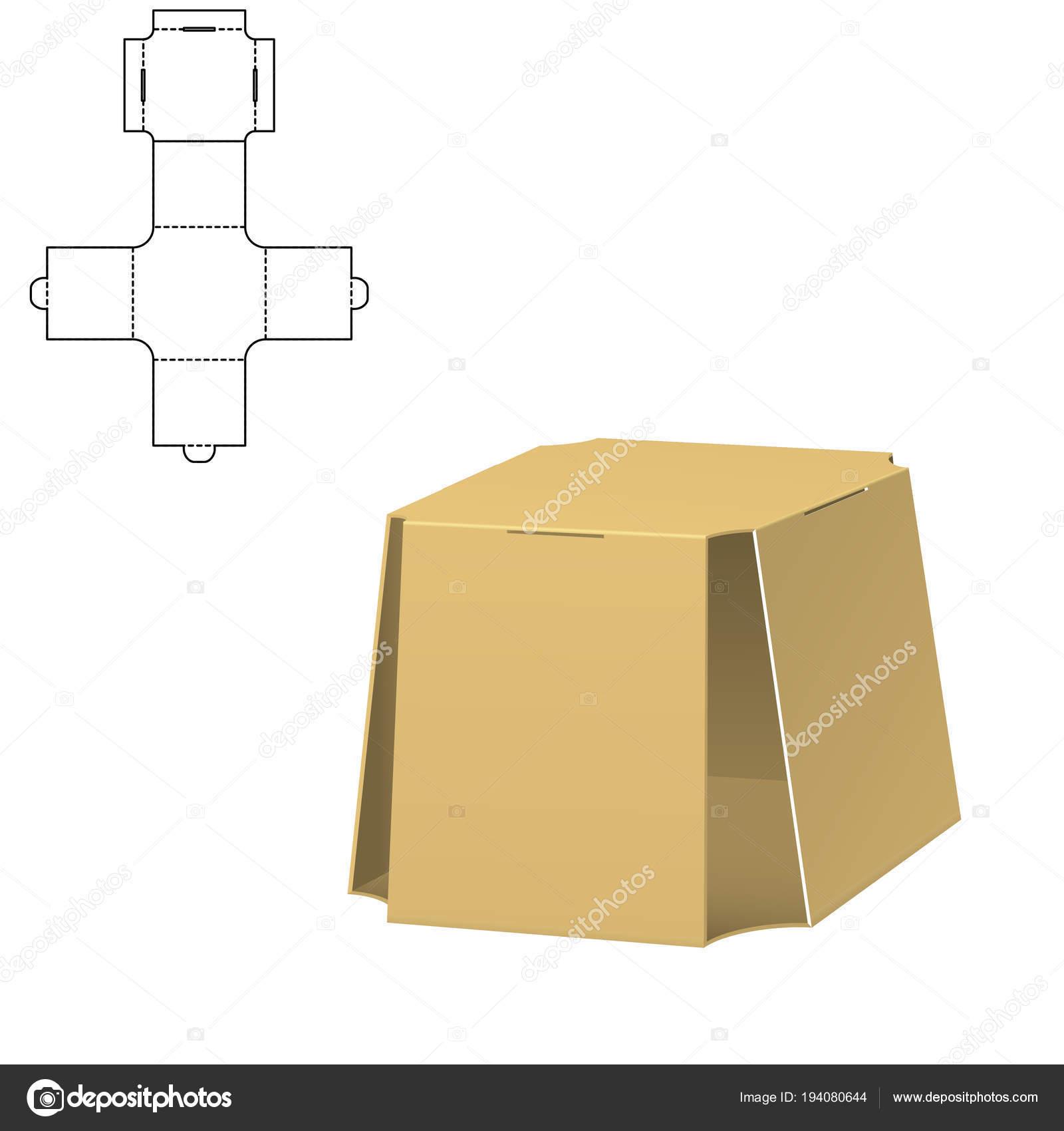 Diecut Craft Box 1 — Stock Vektor © Katyr  194080644 466a4059fa