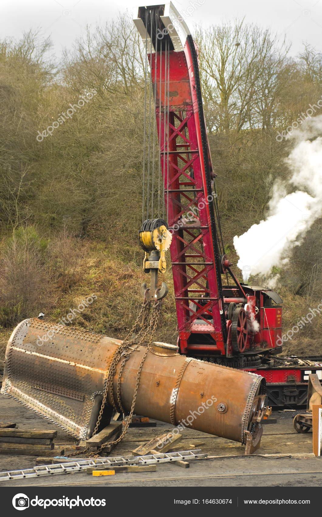 Arbeiten Dampf-Kran — Stockfoto © Richard_Pinder #164630674