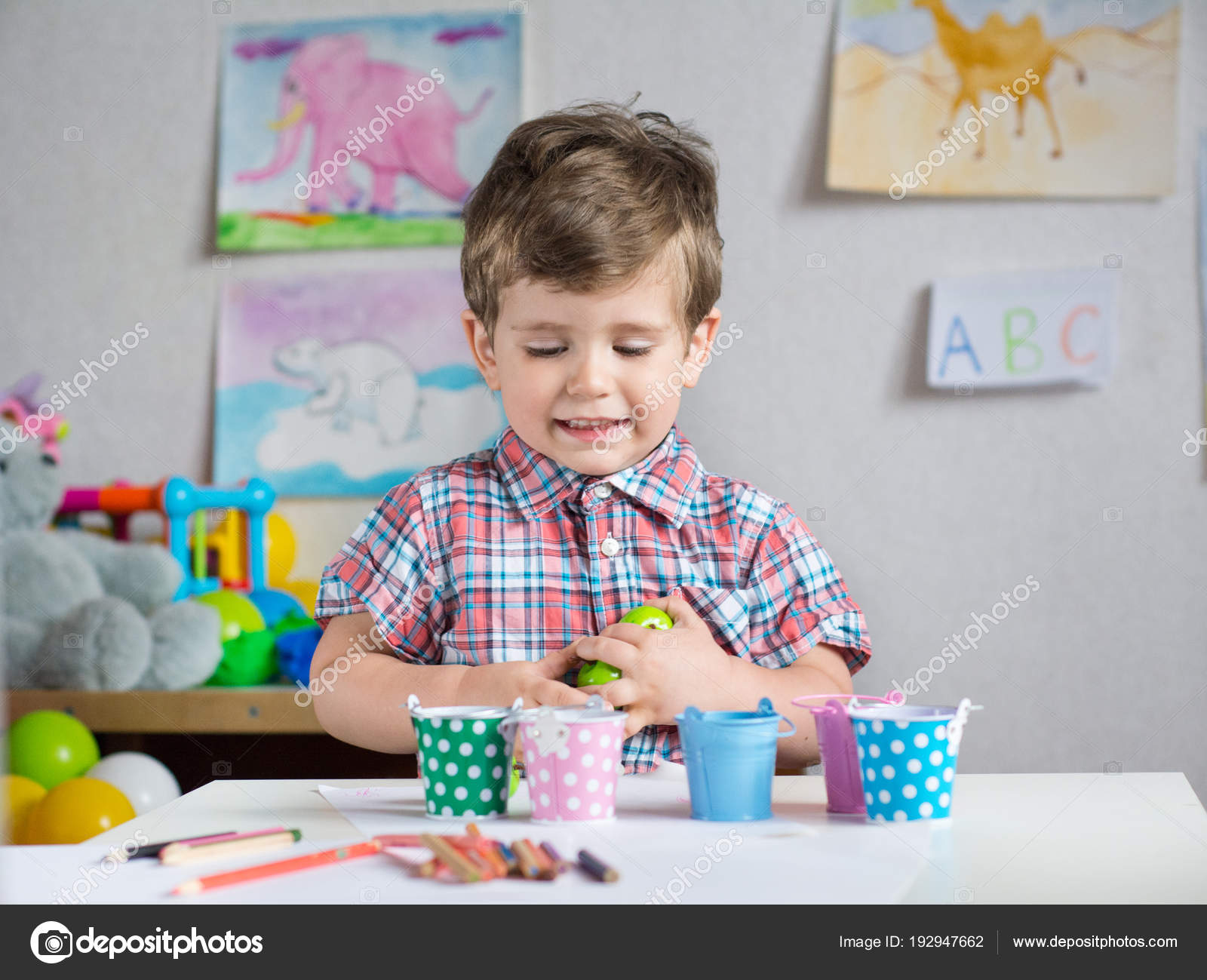 Enfants Apprendre Compter Maternelle Jardin Enfants Âge Préscolaire ...
