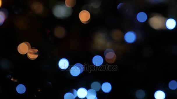 Vánoční osvětlení záře, bokeh