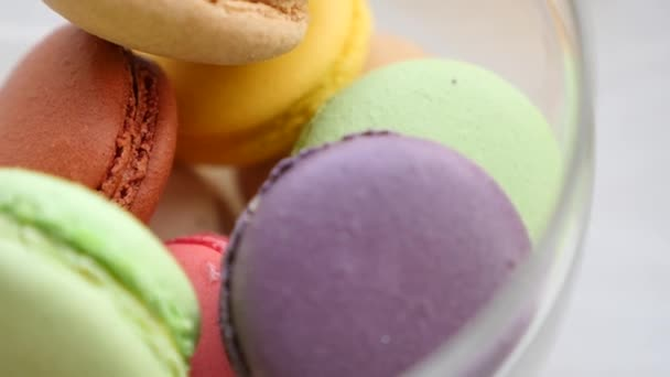 Close-up of colorful macaron (macaroon)