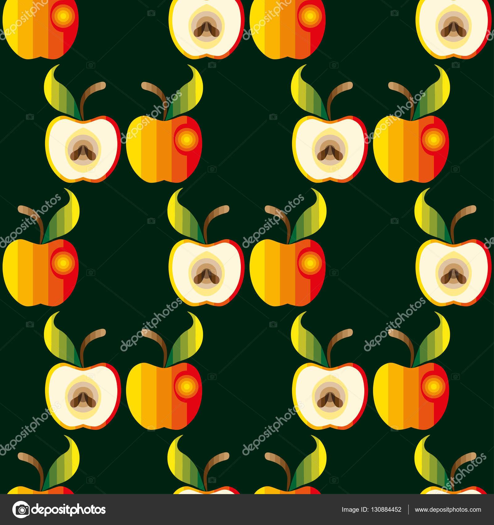 Sfondo Mele Sfondo Di Apple Illustrazione Di Vettore Tessuto