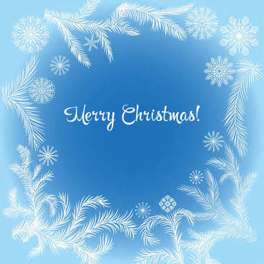 Christmas card illustration.