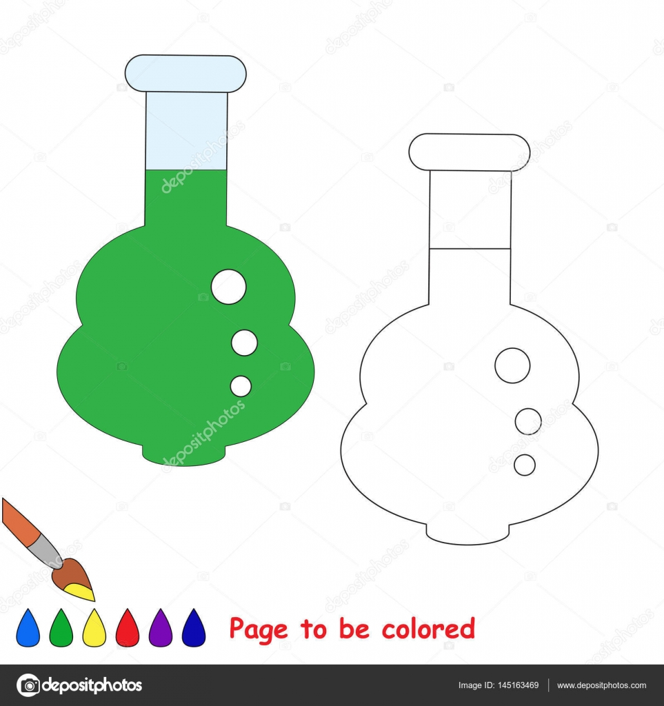 Page To Be Colored Simple Education Game For Kids Stock Vector