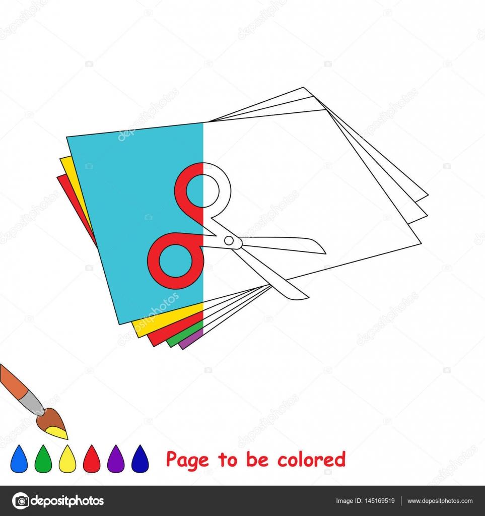 Juego de niños para colorear por ejemplo mitad — Archivo Imágenes ...