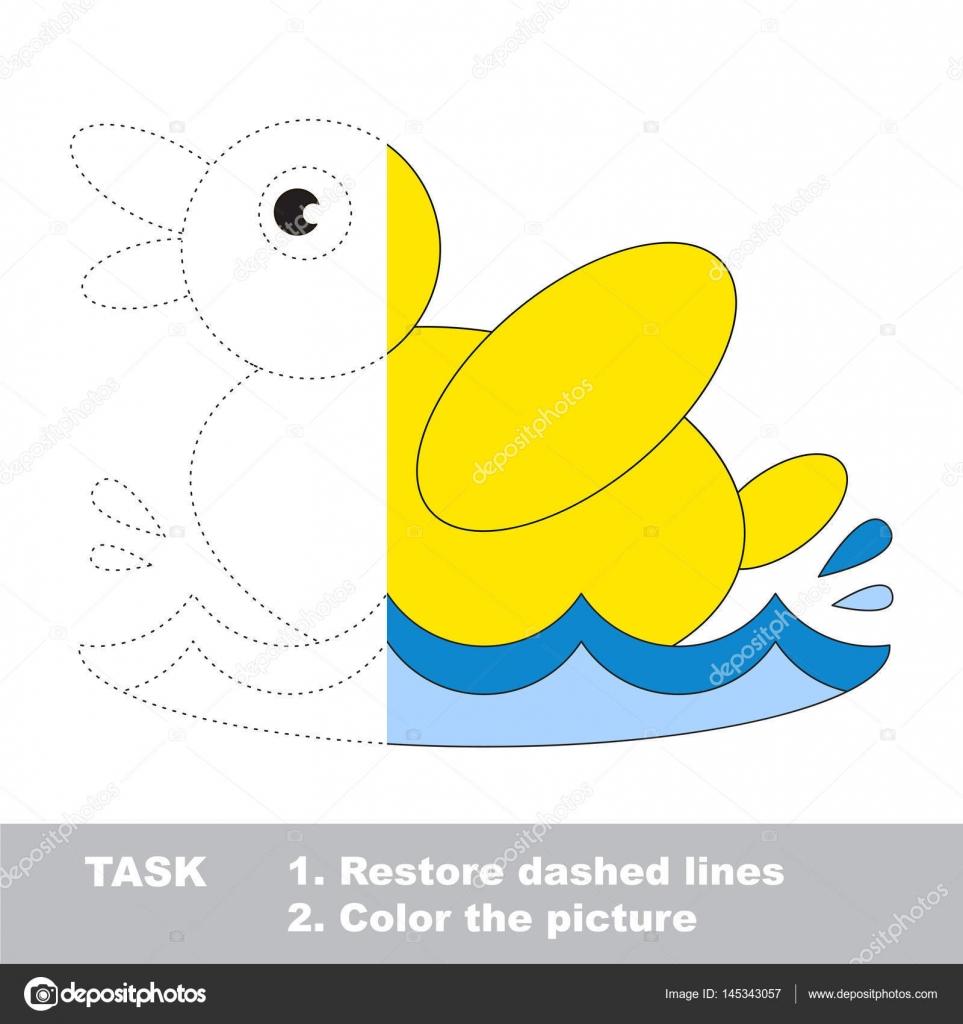 Juego de trazo medio para colorear, traza de vector juego para niños ...