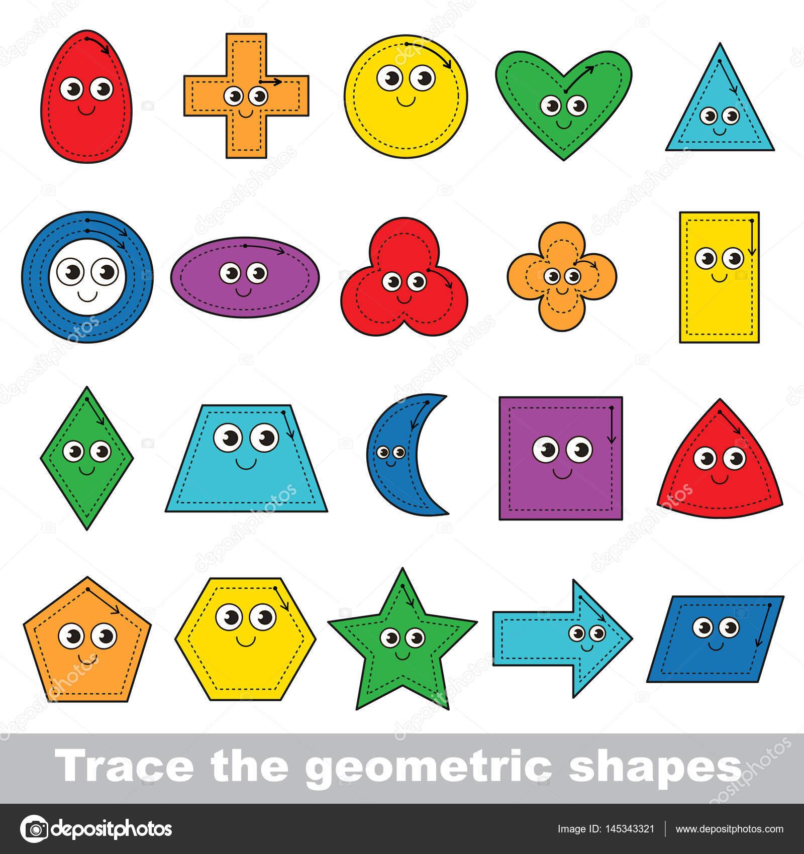 Vektor-Trace-Lernspiel für Kinder im Vorschulalter — Stockvektor ...