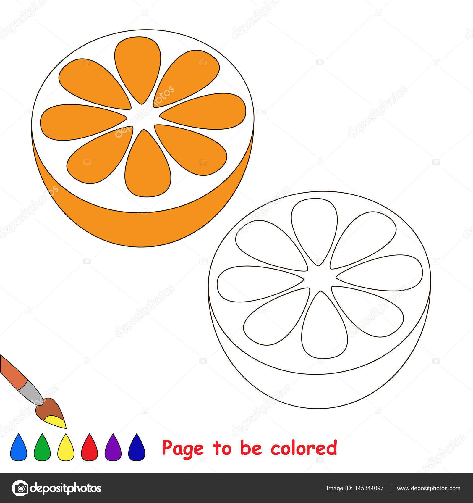 Pagina Di Essere Colorato Semplice Educazione Gioco Per Bambini