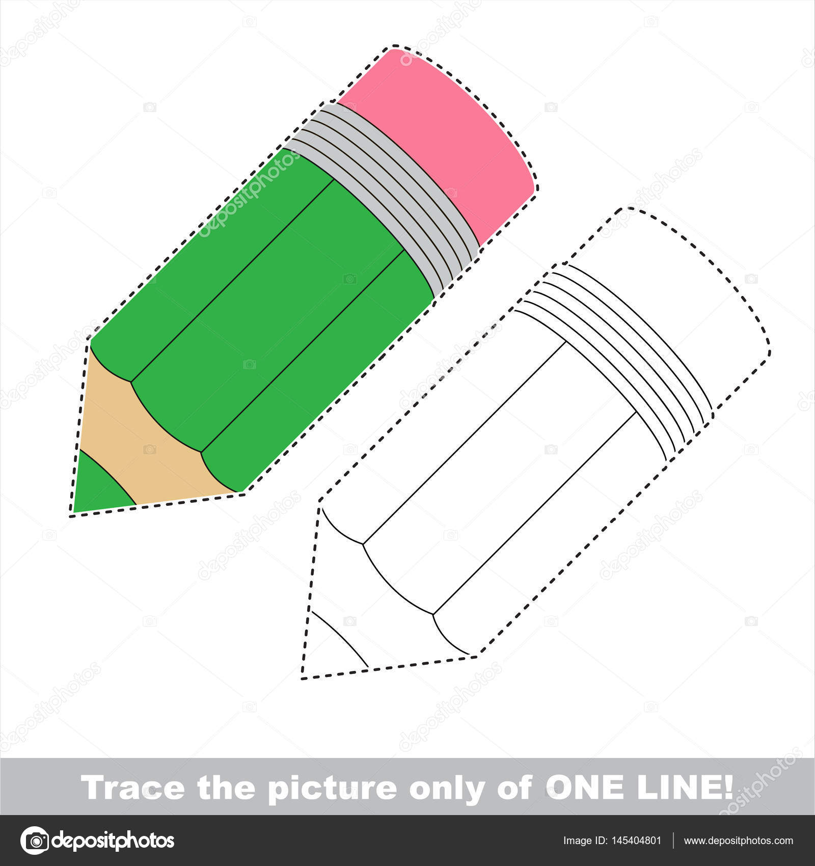 Vector trace educational game for preschool kids. — Stock Vector ...