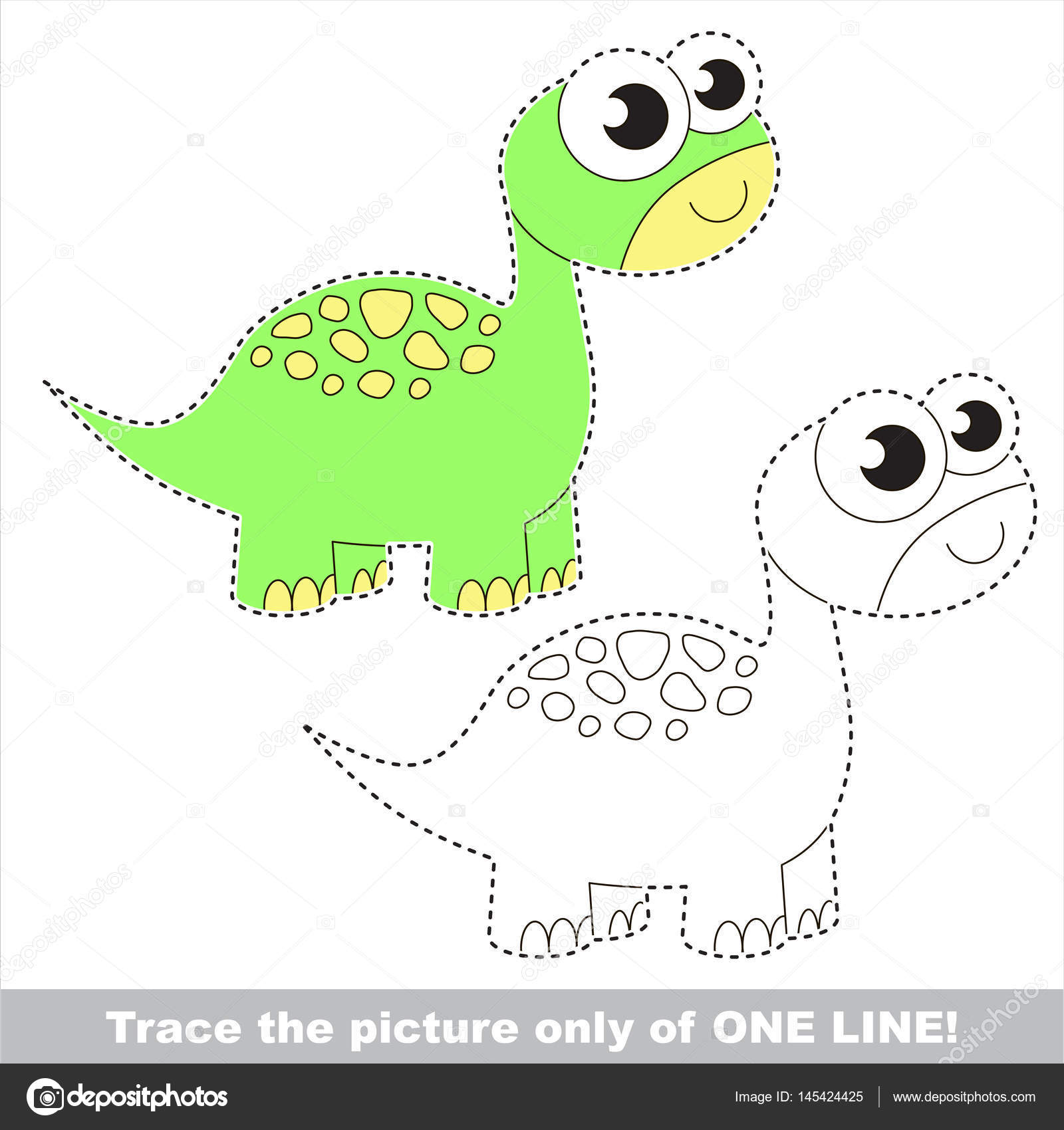 Page to be traced, kid tracing educational game. — Stock Vector ...