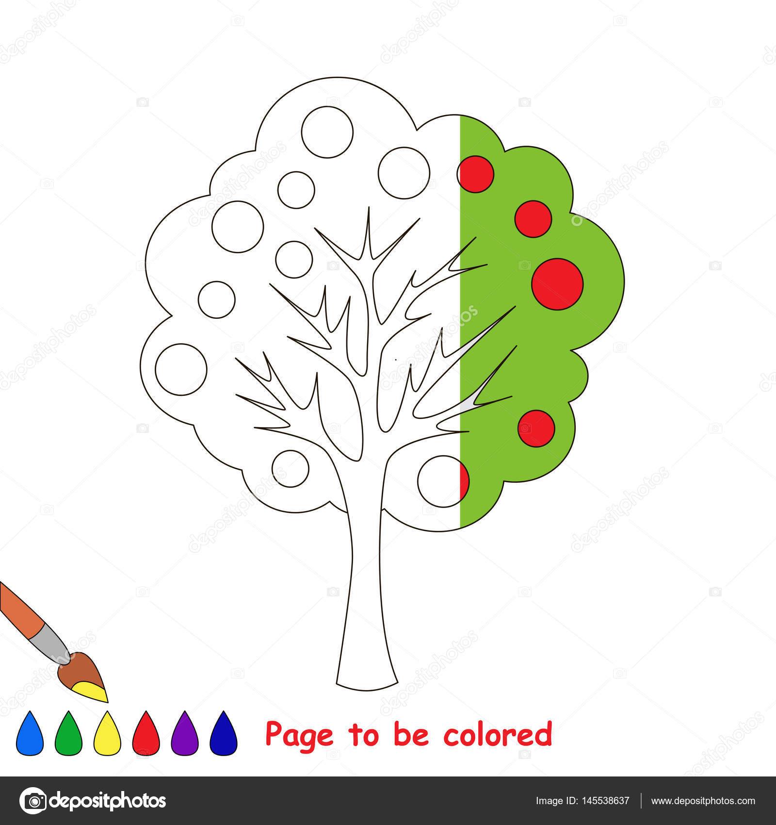 Imágenes Arboles Animados Faciles Página Para Colorear