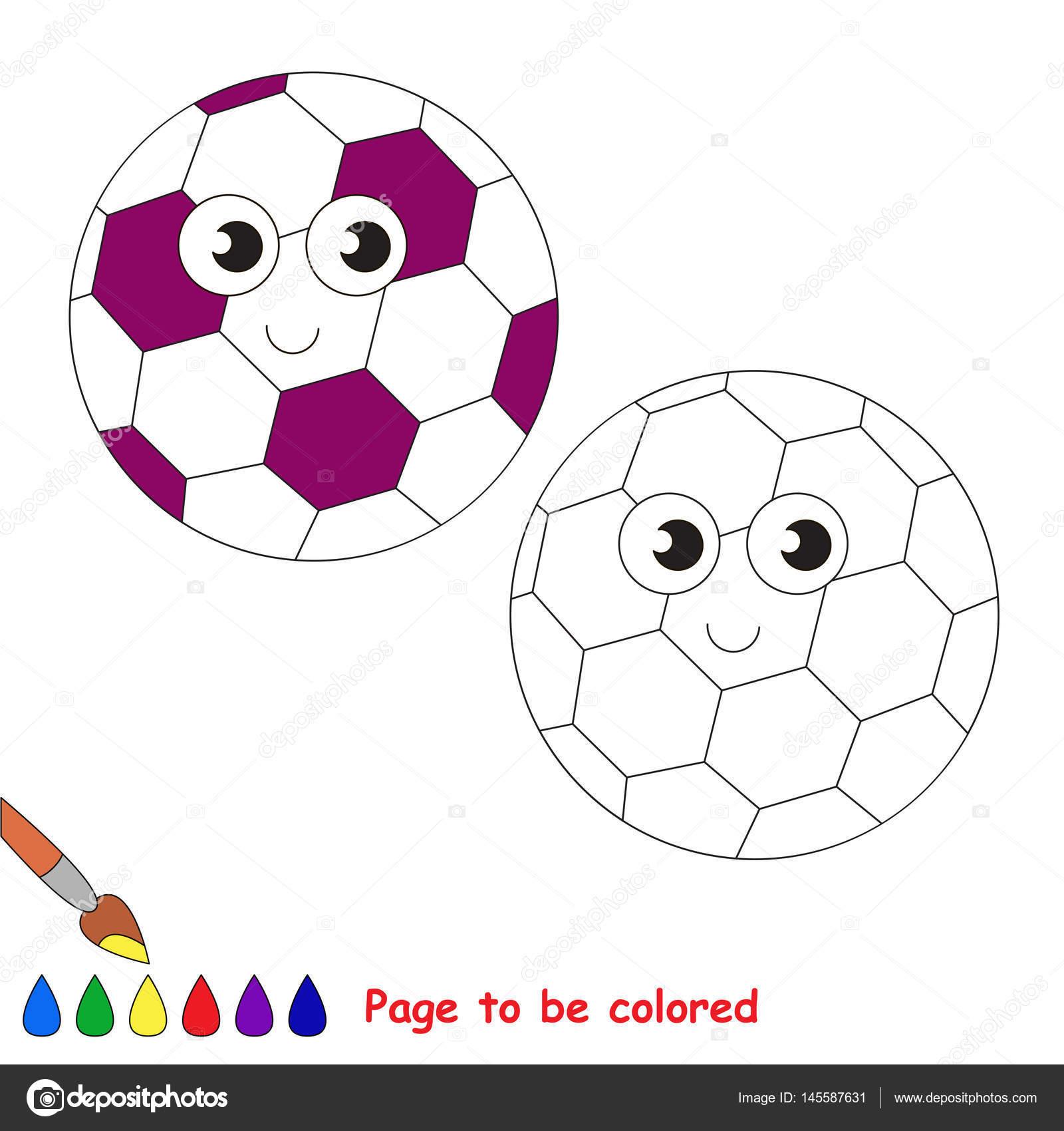 Imágenes Futbol Para Dibujar A Color Página Para Colorear