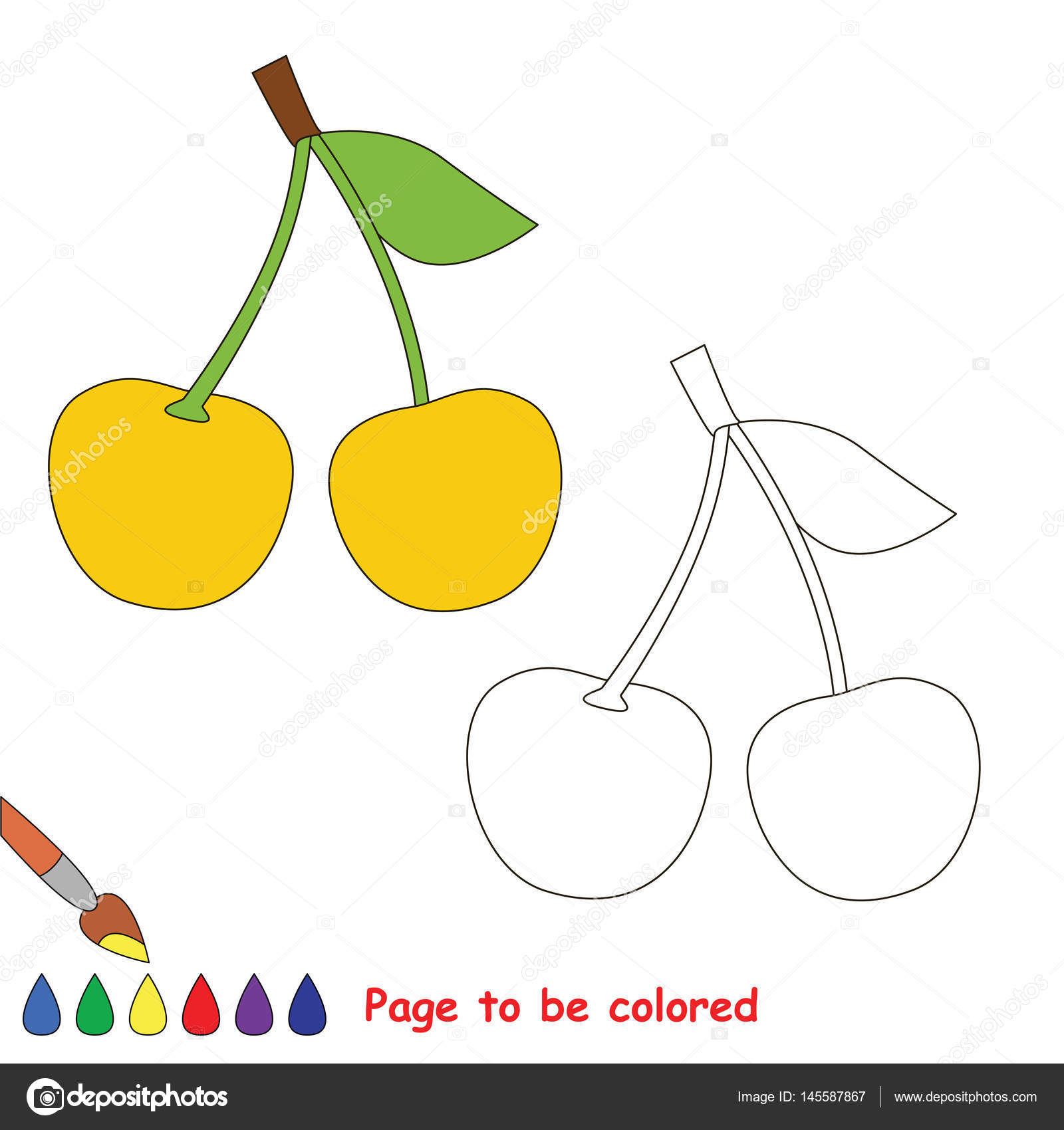 depositphotos stock illustration coloring kid game educational page