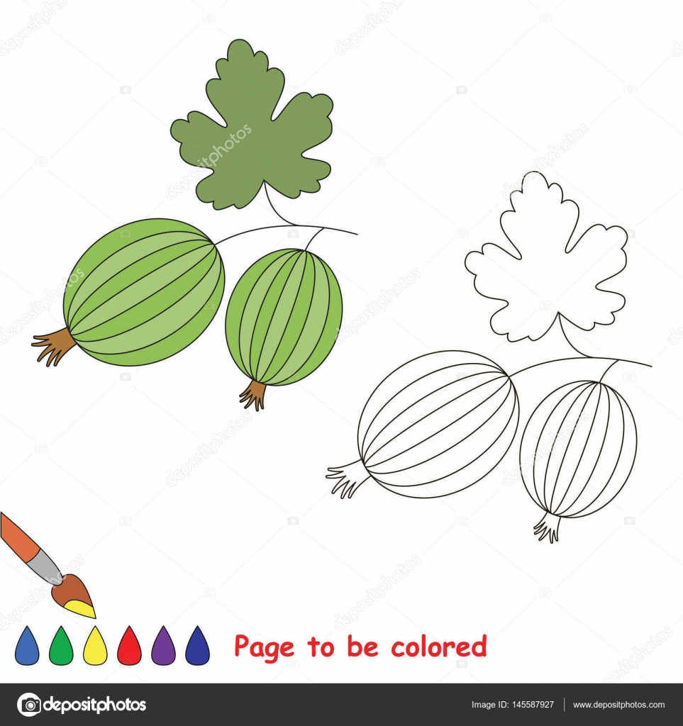 Coloring kid game. Educational page to be colored. — Stock Vector ...