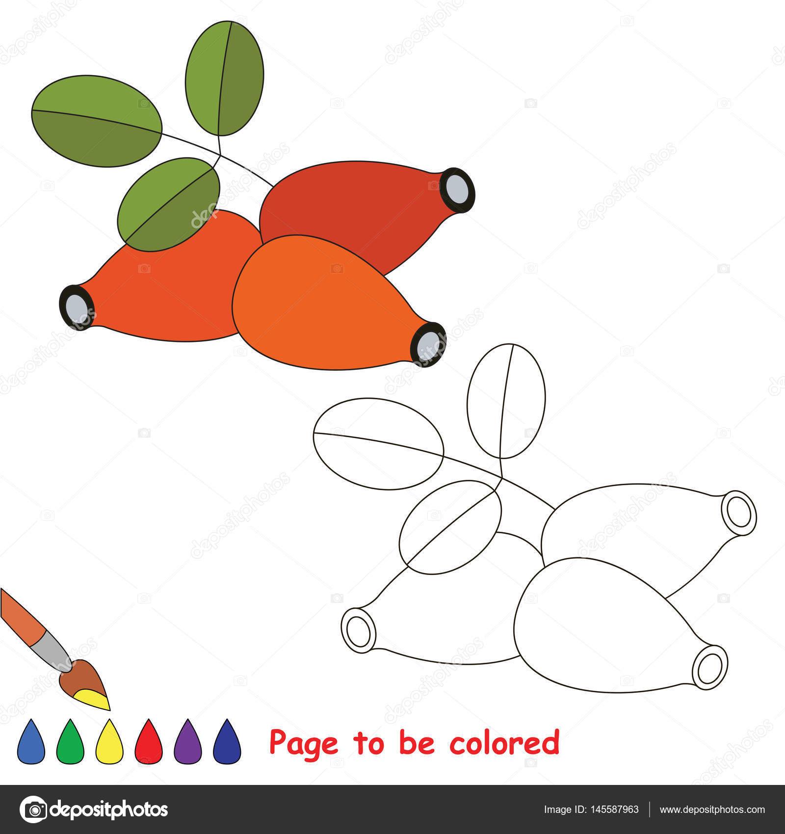 çocuk Oyun Renklendirme Renkli Olması Için Eğitim Sayfası Stok
