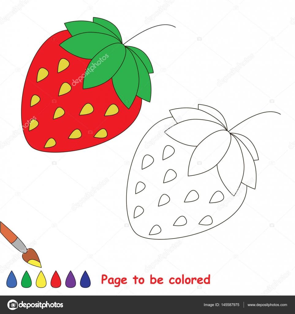 Imágenes Hojas De Frutilla Para Colorear Juego De Niños Para