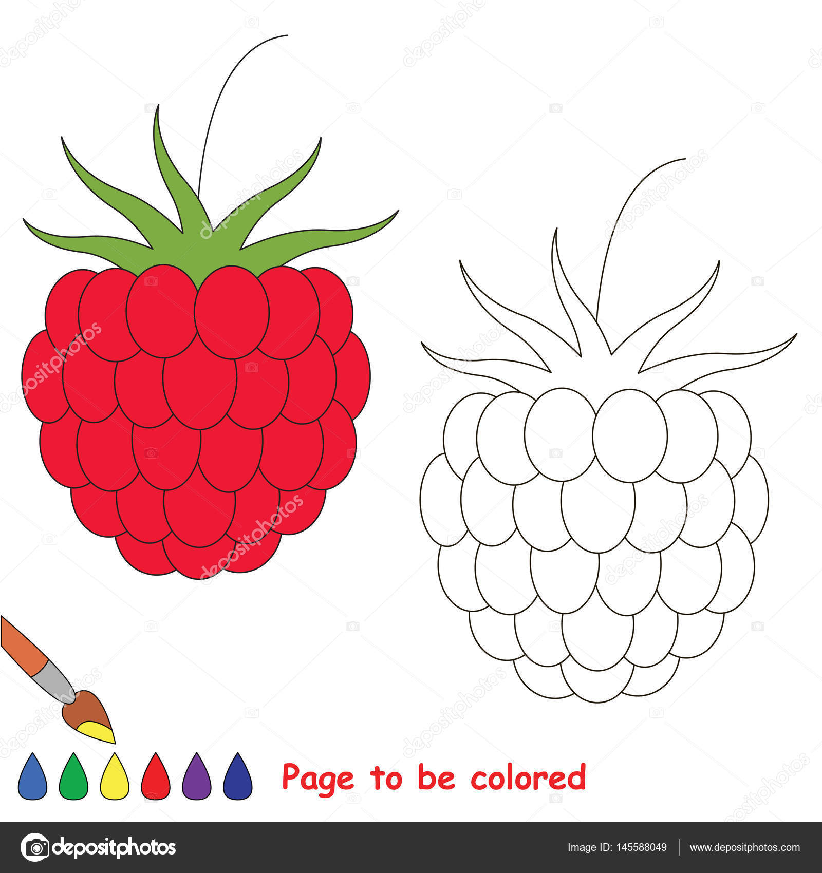 Coloring Kid Game Educational Page To Be Colored Stock Vector