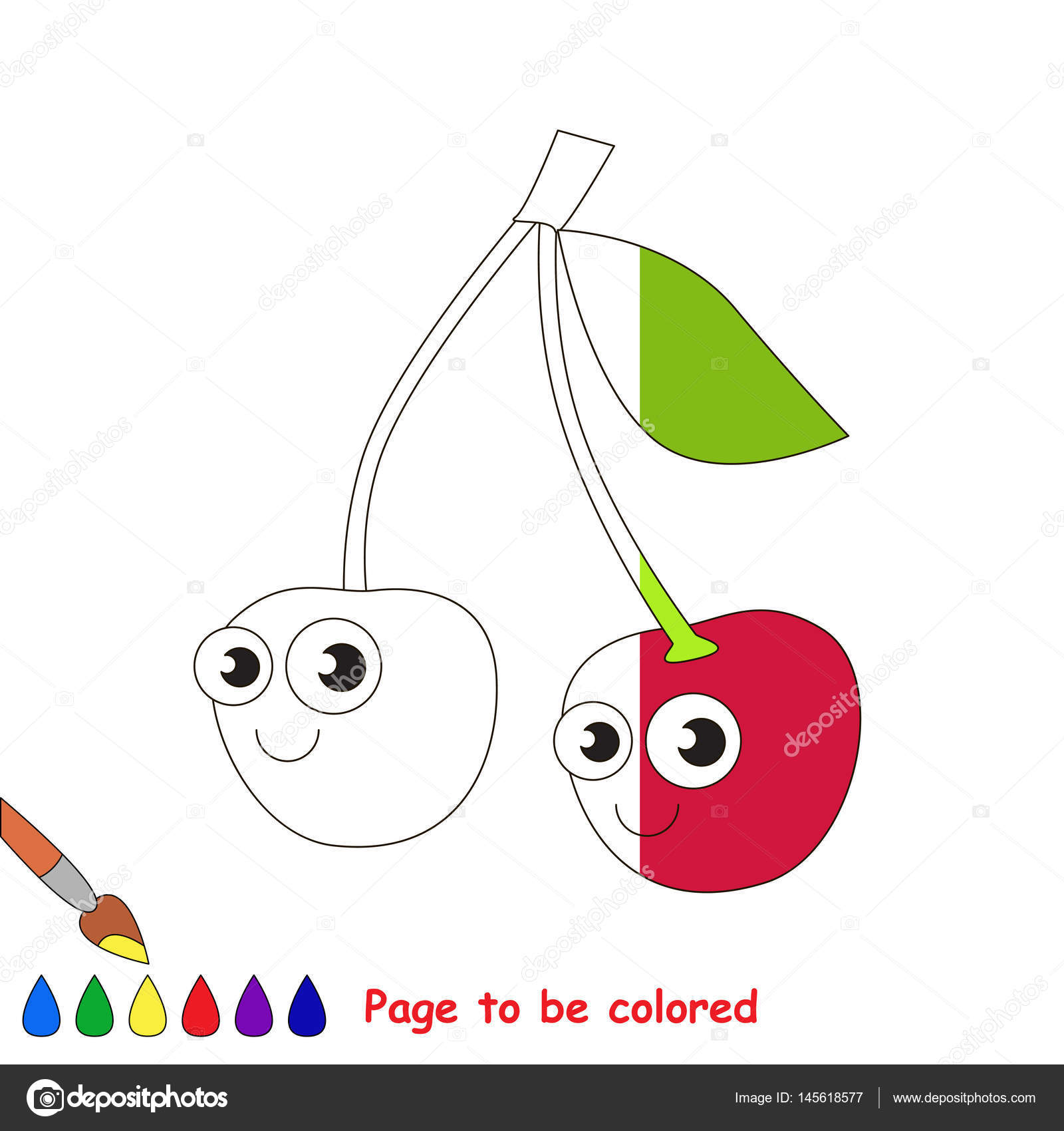 Page To Be Colored Stock Vector C Anna Mikhailova 145618577