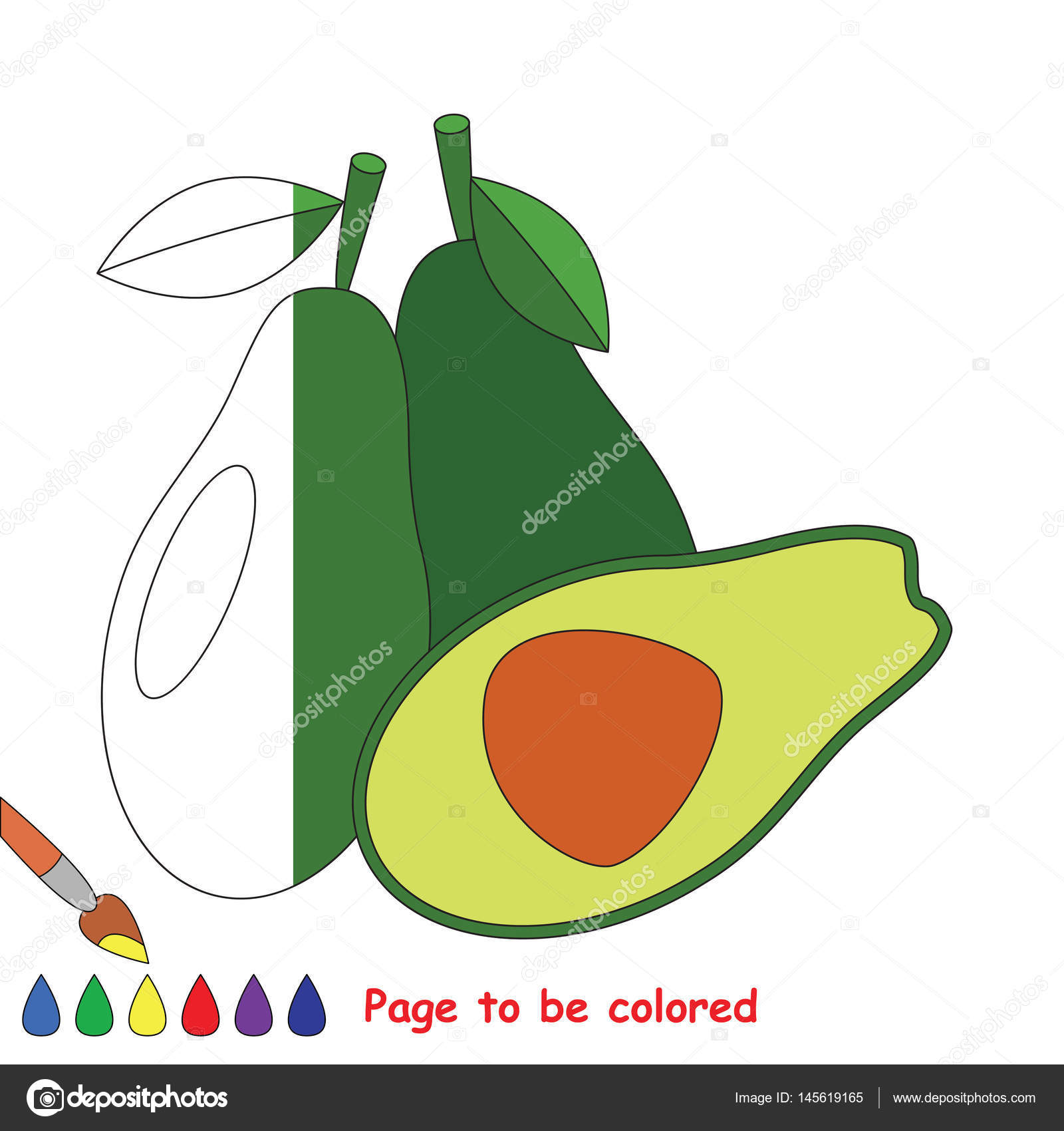 Page to be colored. — Stock Vector © Anna_Mikhailova #145619165