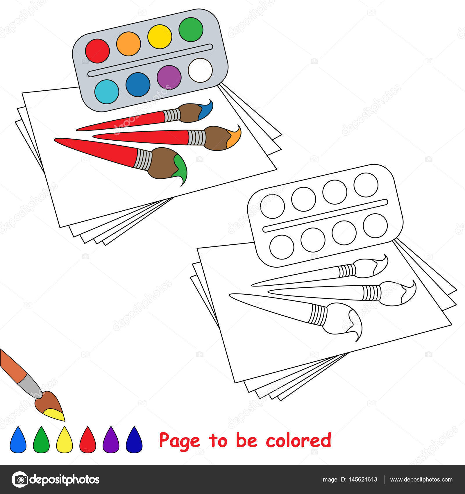 Renkli Sayfa Stok Vektör Annamikhailova 145621613