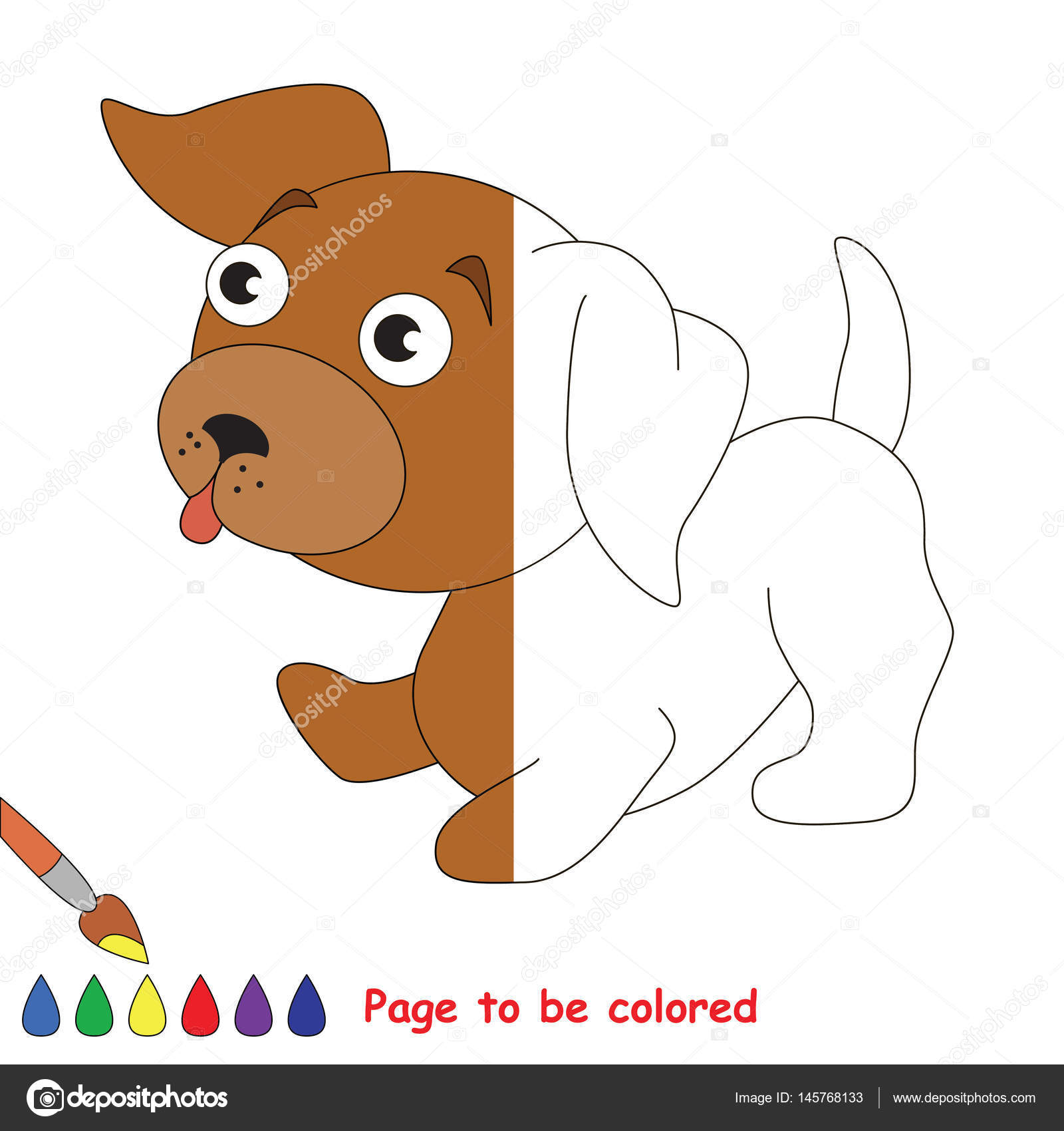 Page To Be Colored Stock Vector C Anna Mikhailova 145768133