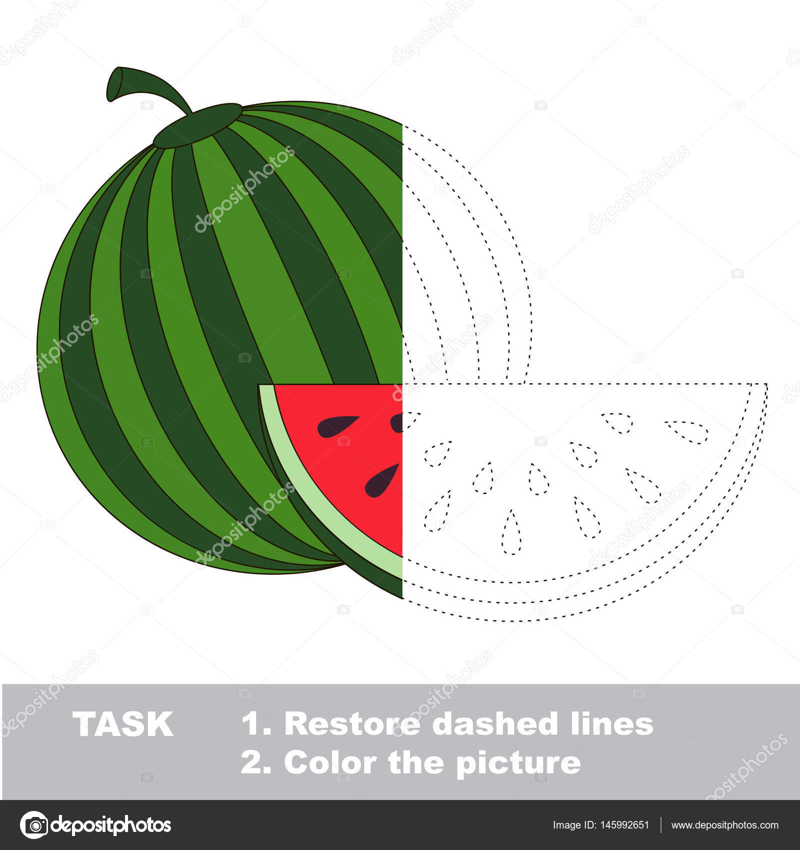 Fruit to be colored. Vector trace game. — Stock Vector ...