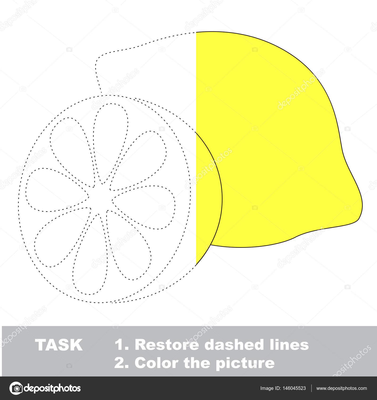Frutas para colorear. Juego de rastreo Vector — Vector de stock ...