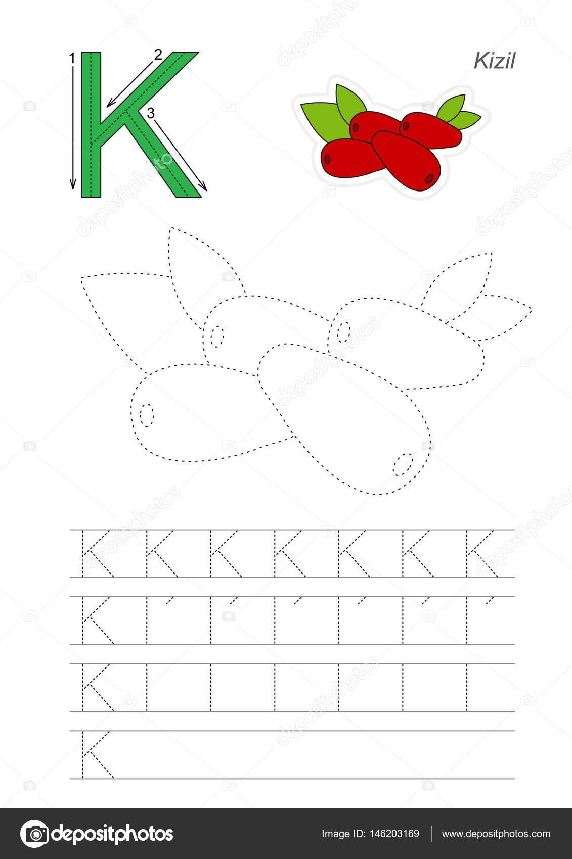 Ablaufverfolgung für Buchstaben Spiel — Stockvektor ...