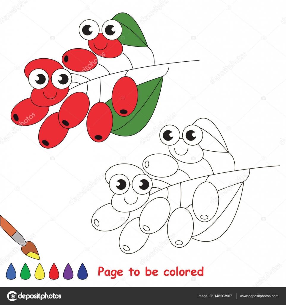 Dibujos animados rojo agracejo. Página para colorear — Archivo ...
