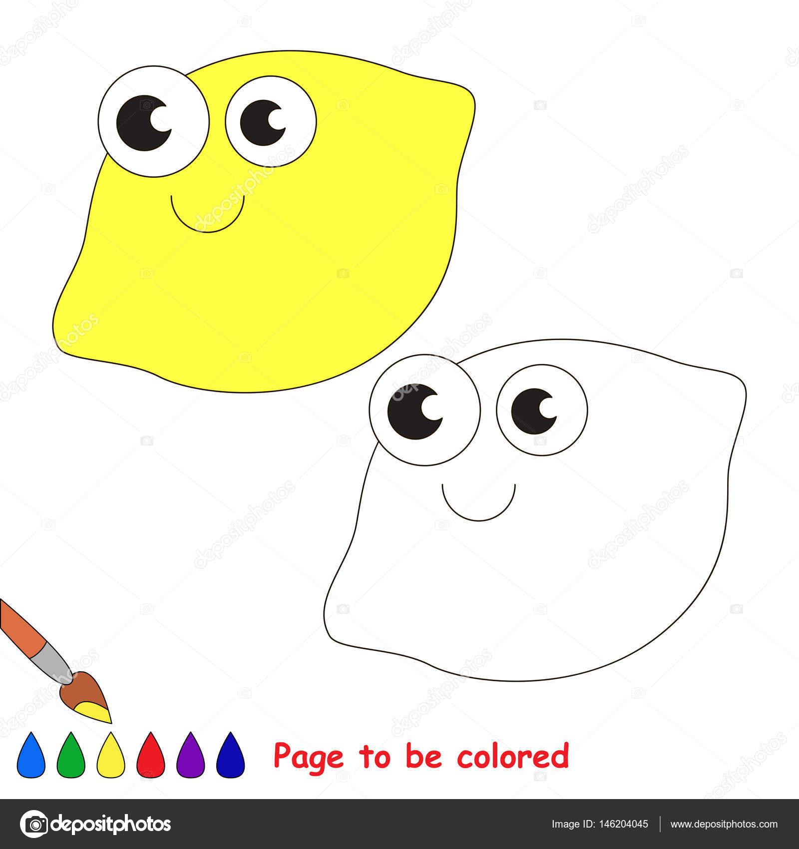 Dibujos animados de un limón. Página para colorear — Vector de stock ...
